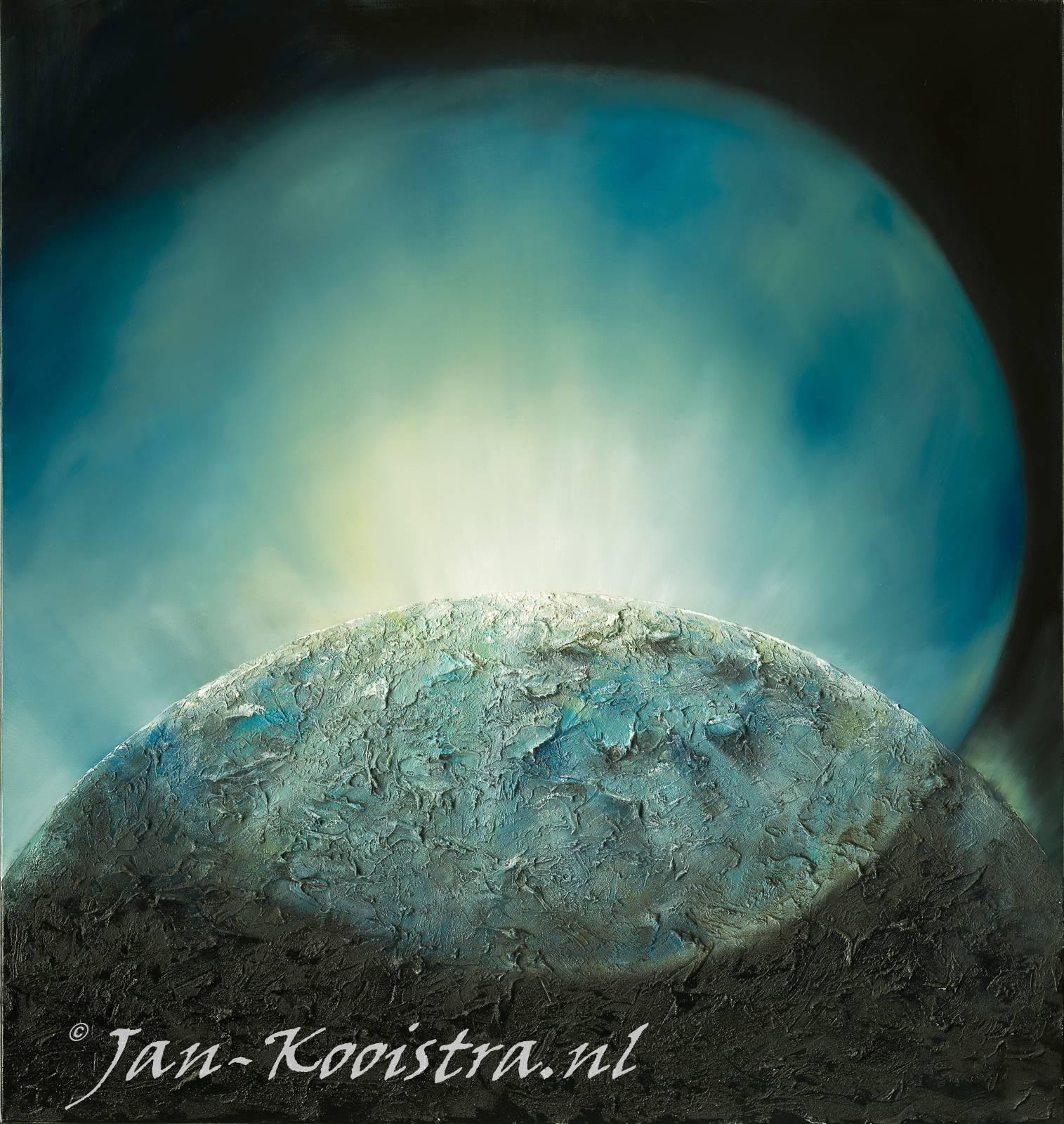 de Geest van God zweeft op het water en God zegt: Er zij licht !