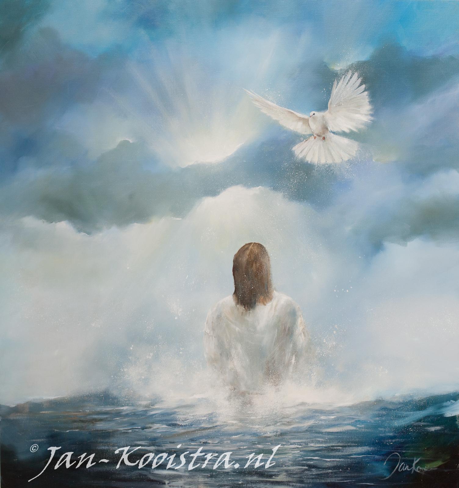 De doop van Jezus in de Jordaan...