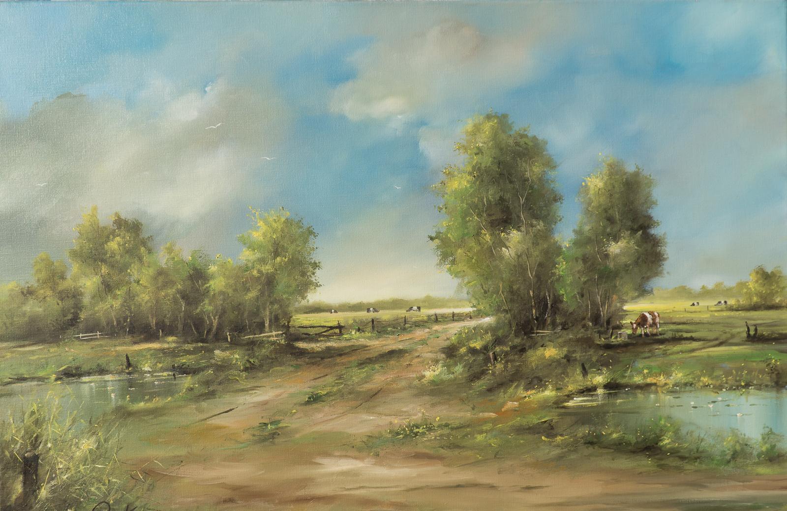 Landschap schilderij jan kooistra